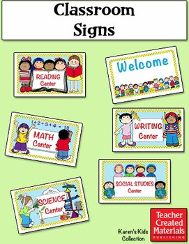 Classroom Signs by Karen's Kids (Digital Download)