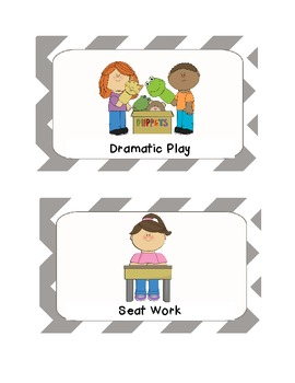 Classroom Signs for Center Areas