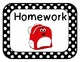 Classroom Signs for Everyday-Black Polka Dot