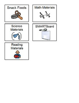 Classroom Signs for Materials