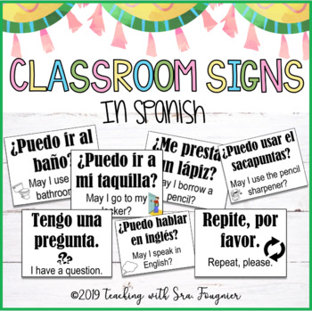 Classroom Signs in Spanish