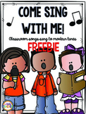 Classroom Sing Alongs: Freebie