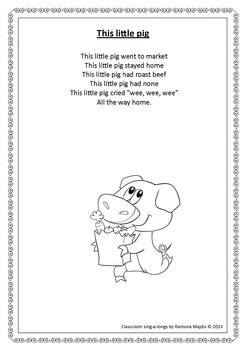 Nursery Rhymes Song Book: Classroom Sing-a-longs by ...