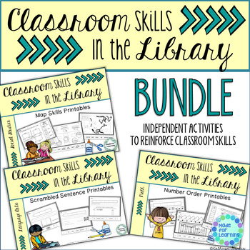 Library and Classroom Skills: BUNDLE of Printable Worksheets