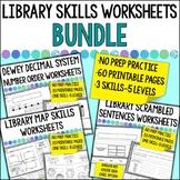 Library and Classroom Skills BUNDLE of Printable Worksheet