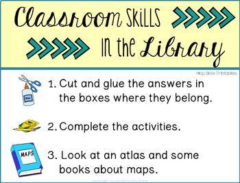 Classroom Skills in the Library: Map Skills Printables