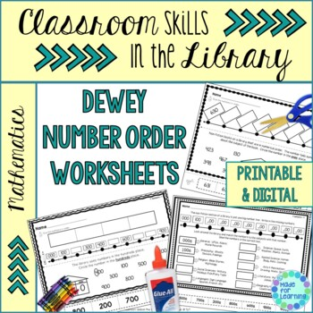 Classroom Skills in the Library: Number Order Printables