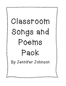 Classroom Songs and Poems Pack