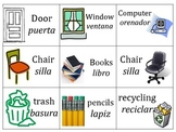 Classroom Spanish Labels