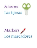 Classroom Spanish and English labels