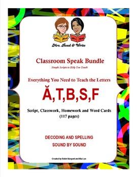 Classroom Speak Bundle:  Teaching Group 1:  Short A,T, B, S, F