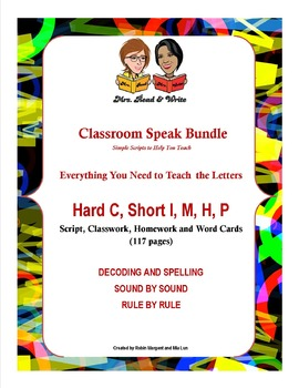 Classroom Speak Bundle:  Teaching Group 2: Hard C, Short I, M, H, P
