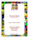 Classroom Speak Concept of a Syllable