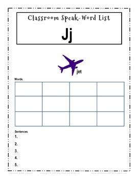 "Classroom Speak:  Script to Teach the ""J"" Sound"