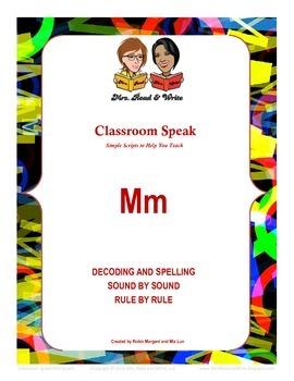 "Classroom Speak:  Script to Teach the ""M"" Sound"