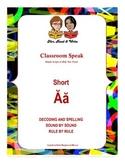 Classroom Speak:  Script to Teach the Short A Sound
