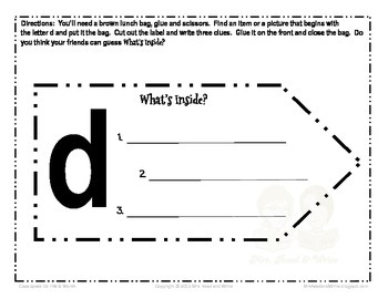 Classroom Speak:  Teaching D Homework and Word Cards
