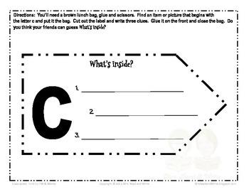 Classroom Speak:  Teaching Hard C Homework and Word Cards