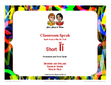 Classroom Speak:  Teaching Short I Homework and Word Cards
