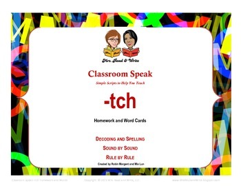 Classroom Speak: Teaching -tch Rule Homework and Word Cards