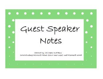 Classroom Speaker Notes