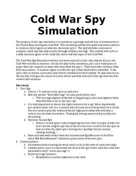 Classroom Spy Simulation