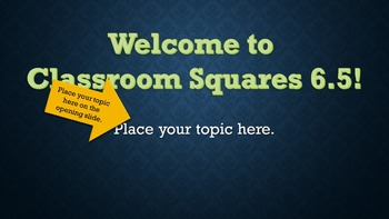 Classroom Squares 6.5 Interactive PowerPoint Game Template