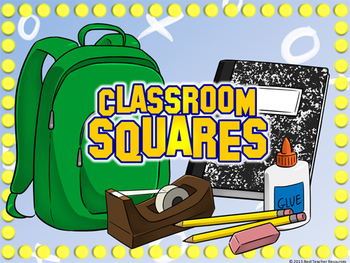 classroom squares powerpoint template - plays like hollywood squares, Powerpoint templates