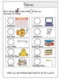 Classroom Stamp Scavenger Hunt