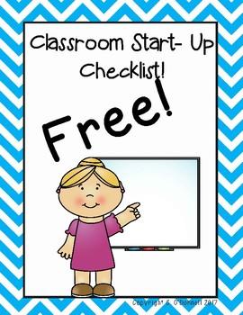 Classroom Star-Up Checklist