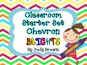 Classroom Decor & Starter Chevron Brights Set