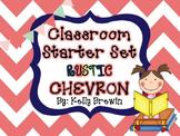 Classroom Decor & Starter Rustic Chevron Set