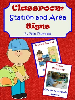 Classroom Station and Area Signs
