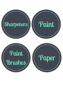 Classroom Stationery Labels