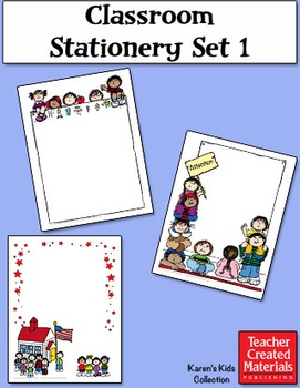 Classroom Stationery by Karen's Kids (Digital Download)