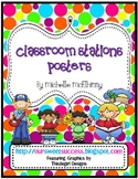 Polka Dots {Classroom Stations Posters}