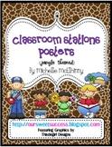 Classroom Stations Posters {Jungle/Safari Themed}