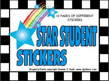 Classroom Stickers: Star Award Stickers