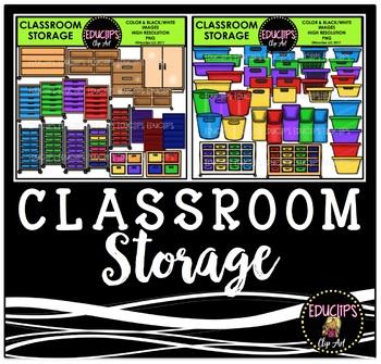 Classroom Storage Clip Art Bundle {Educlips Clipart}