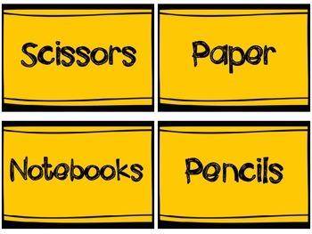 Organize Me Now! Classroom Storage Labels