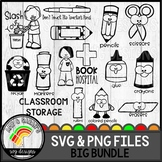 Classroom Storage SVG Design Bundle
