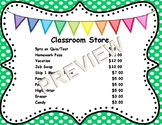 Classroom Store Sign