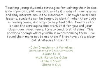 Classroom Strategies for Feeling Calm