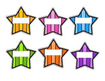 Classroom Striped Stars