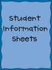 Classroom Student Information Sheets