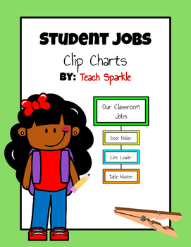 Classroom Student Jobs Clip Chart (Colorful Version)