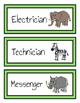Classroom Student Jobs Clip Chart (Jungle Version)