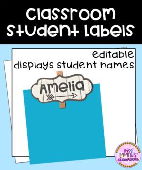Classroom Student Labels