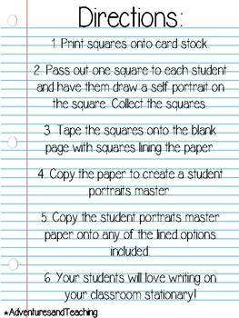 Personalized Classroom Stationary {Student's Writing Paper}