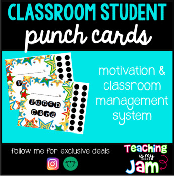 Classroom Student Punch Cards